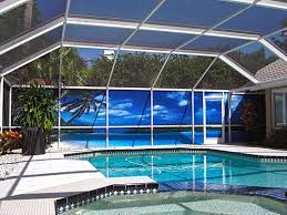 Patio Enclosures Tampa Privacy Screen Patio Scences Mural Screens For Patios In Pinellas