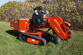 stump grinder rental near me morbark unveils new gas powered track stump grinder re