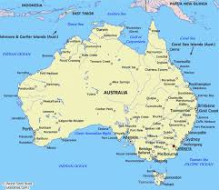 australia map of cities australia map cities major tourist attractions maps