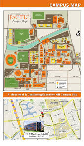 Pacific University Campus Map University Of The Pacific 2014 Spring Professional Development