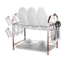 furniture home copper tier sakura dish drainer modern new design
