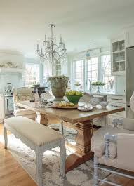 love the mixed matched chairs and the bench with the chunky table