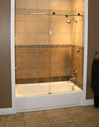 tub with glass shower door semi frameless shower enclosures california reflections