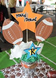 Sports Decorations Football Baby Shower Baby Shower Pinterest Football Baby