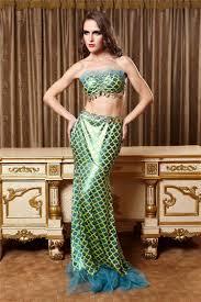 Mermaid Halloween Costumes 2017 Size Sequin Bandeau Dress Mermaid Halloween