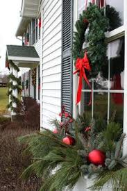 Lighted Window Box Christmas Decorations by Christmas Window Box Christmas Pinterest Window Boxes