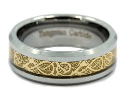 8mm gold celtic dragon ring men u0027s tungsten carbide wedding band