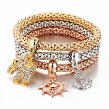 bracelet elastic heart images Buy 17km hot 3 pcs set crystal butterful bracelet jpg