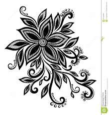 beautiful black and white flower with imitation lace eyelets