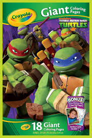 crayola 18 page nickelodeon teenage mutant ninja turtles coloring book