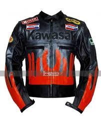 kawasaki riding jacket carpe diem crazy horse red riding motorcycle jacket