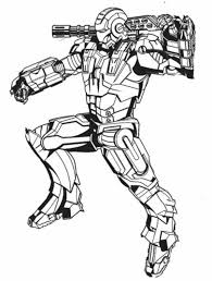 war machine in action in iron man coloring page netart