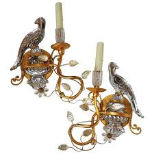 Vintage Crystal Sconces Wonderful Pair Of Bagues Style Vintage Gilt And Rock Crystal