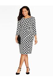 abstract hourglass wrap dress talbots take the stress out of