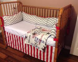 Detroit Tigers Crib Bedding Baseball Crib Etsy