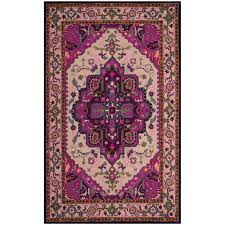 purple and pink area rugs safavieh rio shag ivory pink 5 ft x 8 ft area rug sg951p 5 the