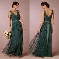vintage country bridesmaid dress long formal v neck sheer lace
