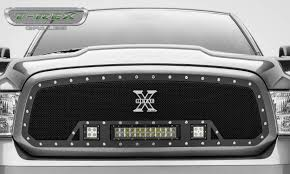 dodge ram 1500 grill t rex dodge ram 1500 torch series led light grille single 2 3