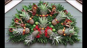 Fruit Decoration For Christmas by Easy Fruit Decoration Ideas Pineapple Youtube