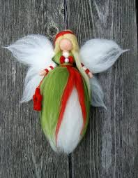 needle felted wool x ornament faeries