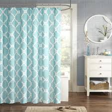 Aqua Blue Shower Curtains Park Essentials Merritt Shower Curtain