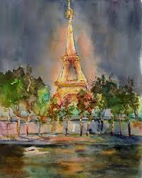 deanna u0027s paintings eiffel tower painting french architecture