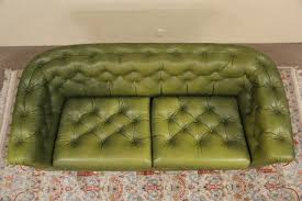 Tufted Vintage Sofa by Sold Chesterfield Tufted Leather Vintage Scandinavian Sofa