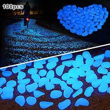 glow stones 100 pcs glow in the pebbles for walkways décor glow stones