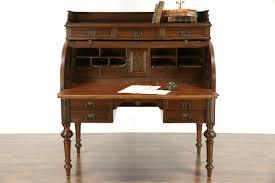 Antique Oak Secretary Desk With Hutch by Sold Oak German 1890 U0027s Antique Cylinder Roll Top Desk Pull Out