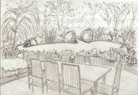 concept sketch for ockley back garden view from terrace jpg 768