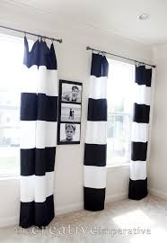Rugby Stripe Curtains by Black And White Striped Blackout Curtains Black And White