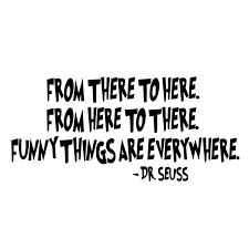 quote decals for glass dr seuss quote from there to here die cut decal car window wall