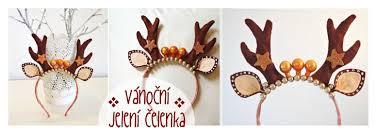 deer headband vánoční jelení čelenka diy deer christmas headband