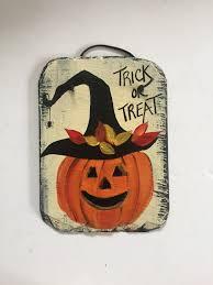 halloween jack o lantern welcome sign halloween slate door hanger