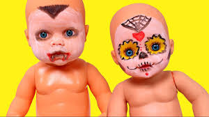 Baby Doll Halloween Makeup by Baby Doll Halloween Party Make Up Toys For Kids Youtube