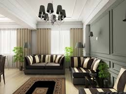 Floor Stand Chandelier by Grey Sofa With White Grey Pillows Cream Wooden Floor With Brown