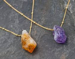 crystal necklace etsy images Raw crystal necklace etsy jpg