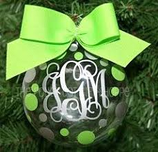 monogrammed ornaments monogrammed by polkadotgiftshoppe