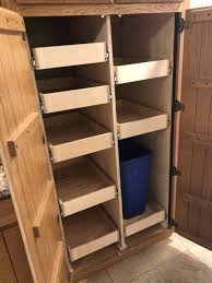 cabinet pull out shelves kitchen pantry storage diy pull out pantry shelves 5 part guide to