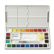 amazon com jerry q art 24 assorted water colors travel pocket set