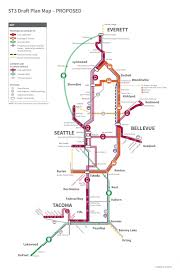 Seattle Link Map by Sound Transit U0027s 25 Year Plan 50 Billion Lean Into Light Rail