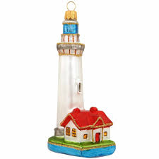4 5 inch glass lighthouse ornament ornaments