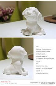 creative white small ceramic figurines for home decorations