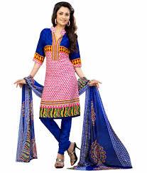 pink colour combination dresses get graceful collection of cotton kurtis and crape dress materials
