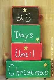 christmas countdown calendar diy christmas countdown blocks meatloaf and melodrama
