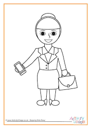 woman colouring page
