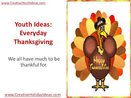 youth ideas everyday thanksgiving