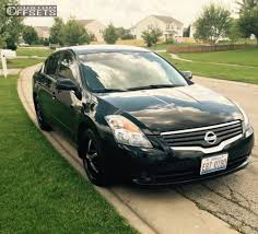 altima nissan black wheel offset 2008 nissan altima flush stock custom rims crew builds