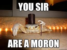 Moron Meme - show re cap for thursday 11 15 2012 no you are