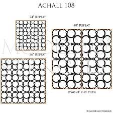 Decorative Wall Stencils Custom Allover Large Wall Stencils For Painting Modello Designs
